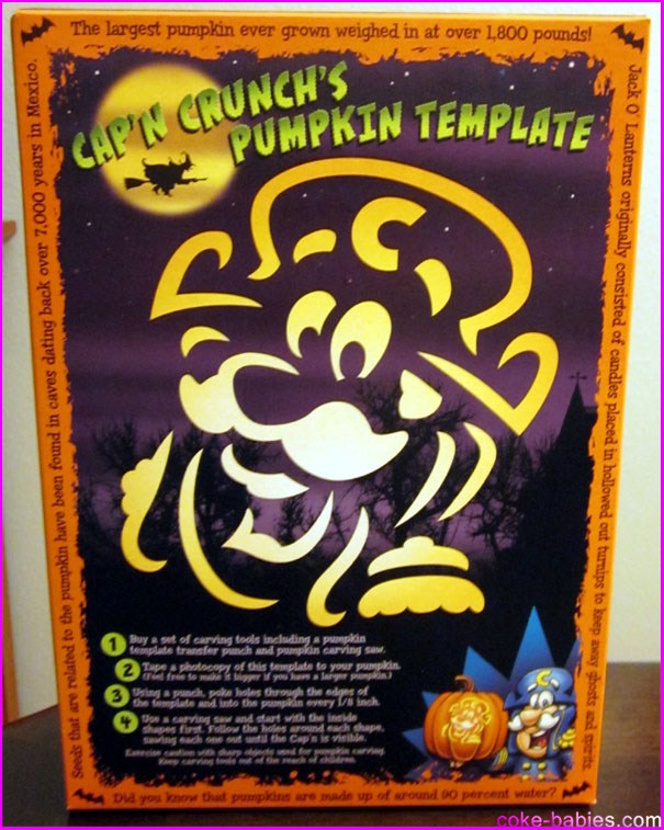 the back of the box is a slight step up from the mazes and puzzles you usually get when a kids cereal refuses to include a prize the capn crunch - Captain Crunch Halloween